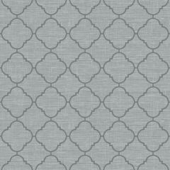 Trellis Metallic Wallpaper Grey