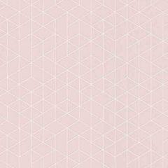 Scandinavia Geo Wallpaper Pink