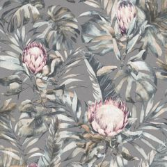 Protea Botanical Flower Wallpaper Grey