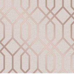 Quartz Metallic Trellis Wallpaper Rose Gold