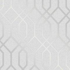 Quartz Metallic Trellis Wallpaper Silver