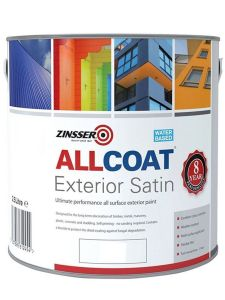 Zinsser AllCoat® Interior & Exterior Satin - Colour Match *1L Pale Colours - Out of Stock*