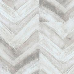 Acquabella Chevron Wood Panel Wallpaper Grey