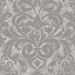Collingwood Metallic Damask Wallpaper Silver