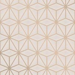 Pulse Star Geo Wallpaper Taupe & Rose Gold