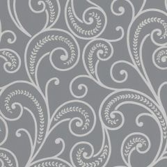 Astoria Scroll Wallpaper Grey