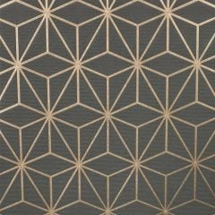 Pulse Star Geo Wallpaper Charcoal & Rose Gold
