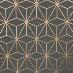 Pulse Star Geo Wallpaper Charcoal & Rose Gold