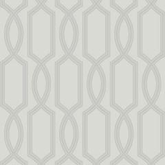 Trellis Metallic & Glass Bead Wallpaper Silver