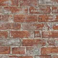 Imitations Rustic Brick Wallpaper Rustic Red