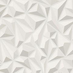3D Geometric Wallpaper White
