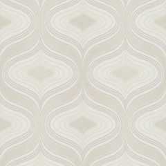 A wavy geometric retro design in a beige and cream colour, very 70's retro.