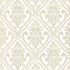 Blenheim Glitter Damask Wallpaper Cream