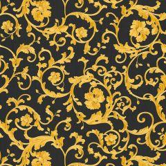 Versace Barocco Floral Wallpaper Black