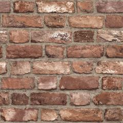 Vintage Brick Wallpaper Red
