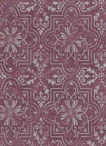 Vintage Tile Wallpaper Purple