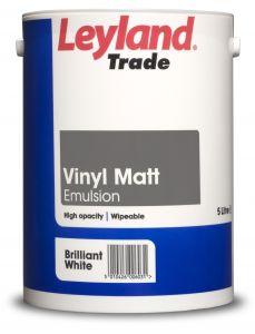 Leyland Trade Vinyl Matt Brilliant White 5L
