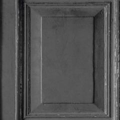 Wood Panels Faux Effect Wallpaper Black