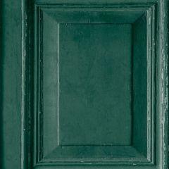 Wood Panels Faux Effect Wallpaper Green