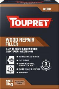 Toupret Wood Repair Fast Drying Filler 1kg