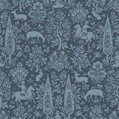 Archive Woodland Floral Wallpaper Blue