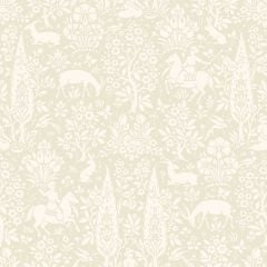 Archive Woodland Floral Wallpaper Cream