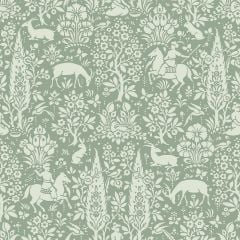 Archive Woodland Floral Wallpaper Sage Green