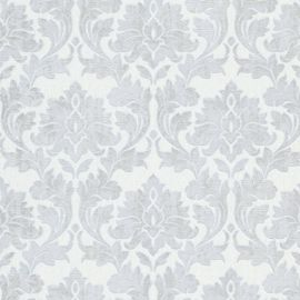 Erismann Timeless Damask Glitter Wallpaper White & Silver