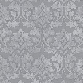 Erismann Timeless Damask Glitter Wallpaper Grey