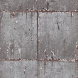 Erismann Non-woven Industrial Brick Wallpaper Grey