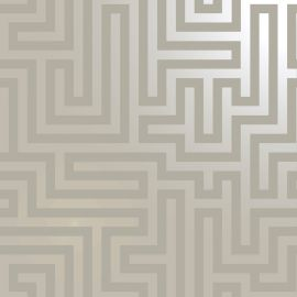 Glistening Maze Wallpaper-Glistening Maze Taupe