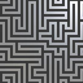 Glistening Maze Wallpaper - Black