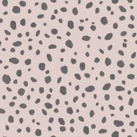 Dalmatian Pink & Black Wallpaper