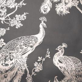 Glistening Peacock Wallpaper Navy