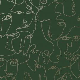 Abstract Faces Wallpaper