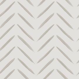 Chevron Brush Marks Wallpaper Taupe