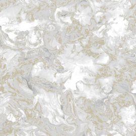 Elixir Marble Wallpaper Grey & Gold