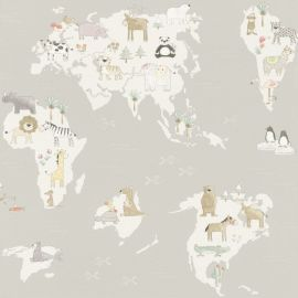 Kids Marvellous Animals Map Wallpaper Natural