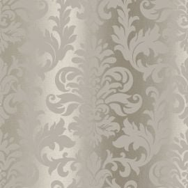 Platina Damask Metallic Wallpaper