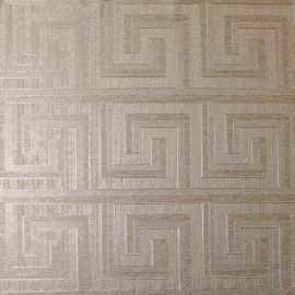 Greek Key Foil Wallpaper Champagne