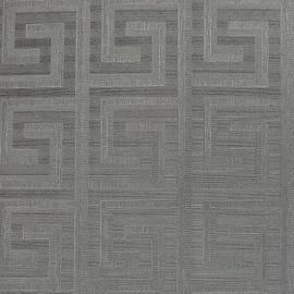 Greek Key Foil Wallpaper Gunmetal