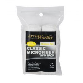 "Arroworthy Classic Microfiber 4"" 3/8"" Mini Roller Sleeves Medium Pile (Twin Pack)"