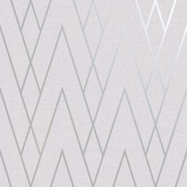 Duo Chevron DCO Exclusive Wallpaper Grey