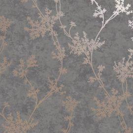 Chevril Metallic Floral Wallpaper