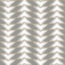 Teton Geometric Wallpaper Grey