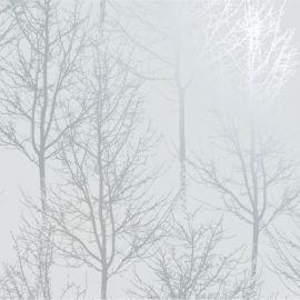 Rhea Trees Wallpaper Grey/Silver