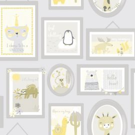 Animal Frames Children's Wallpaper