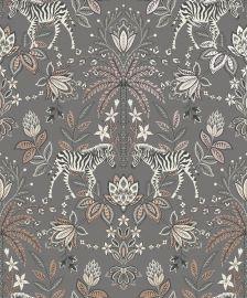 Etosha Jacobean Zebra Wallpaper