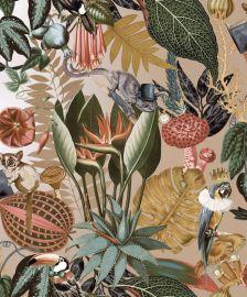 Wonderland Jungle Wallpaper Gold