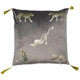 Malini Feline Grey Cushion